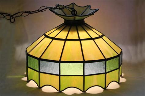 vintage leaded mica drum shape l shade wiring for ceiling light fixture pendant wiring for l