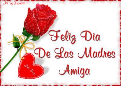 imagenes de feliz dia para una amiga rosa y corazon rojo con frase feliz dia de las madres a