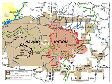 map of gallup new mexico coloradoriver navajo gallup water supply project