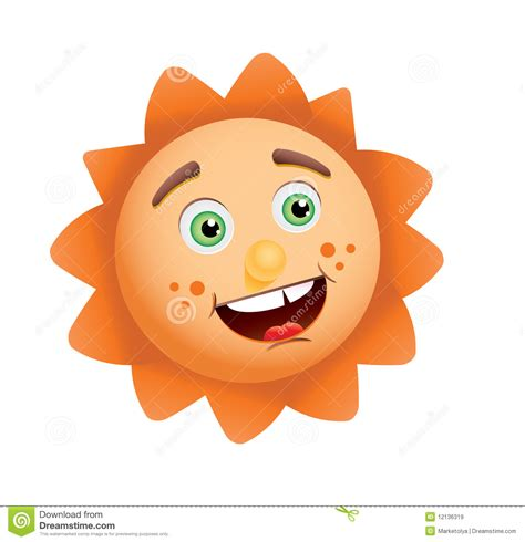 funny images of hot sun funny sun face royalty free stock images image 12136319