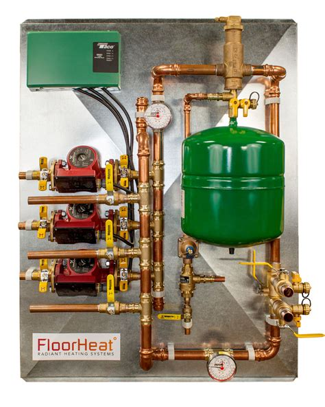 Water Radiant Heat Wall Panels 3 Zone Preassembled Radiant Heat Distribution