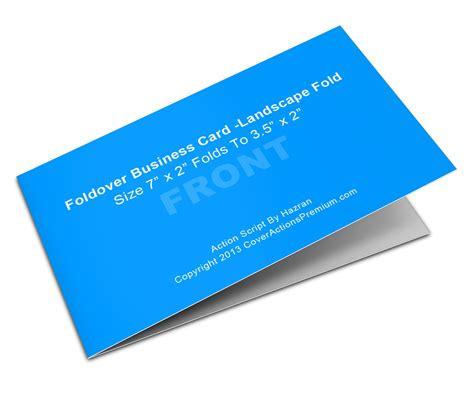 5 x 7 card templates landscape landscape foldover business card mock ups 7x2in cover