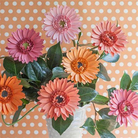 daisy paper flower pattern diy gerbera daisy paper flower wedding flower and patterns