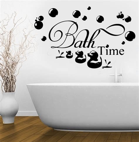 bathroom decal bath time ducks soak relax quote wall stickers art