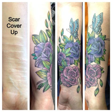 self harm tattoo cover up scar cover up by cat johnson tattoonow