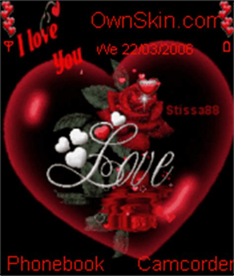 gif wallpaper for lenovo animated love heart red rose mobile themes for nokia n