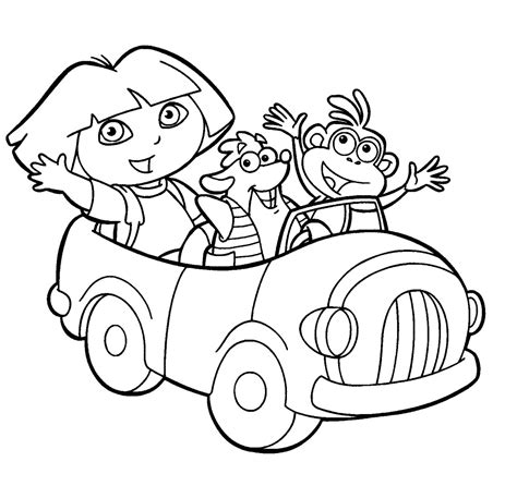 14 Dora The Explorer Coloring Page To Print Print Color Craft Coloring Pages
