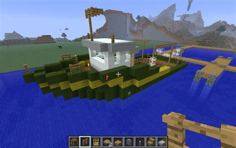minecraft asian boat fishing boat creation 340