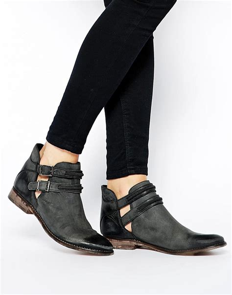 image 1 of free braeburn cut out flat ankle boots
