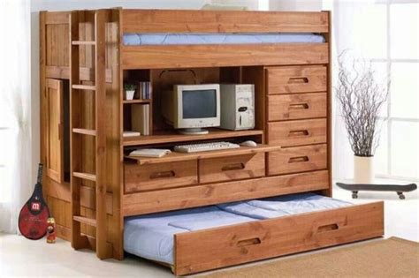 wooden bunk beds with desk 45 bunk bed ideas with desks ultimate home ideas