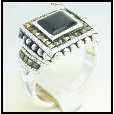 silver electroforming jewelry electroforming marcasite ring 925 sterling silver jewelry
