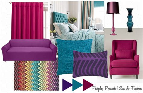 peacock color scheme bedroom purple peacock blue fuchsia furniture clue