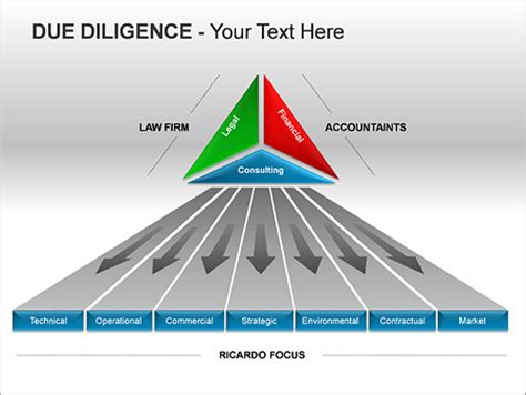 due diligence ppt diagrams amp chart amp design id 0000002480