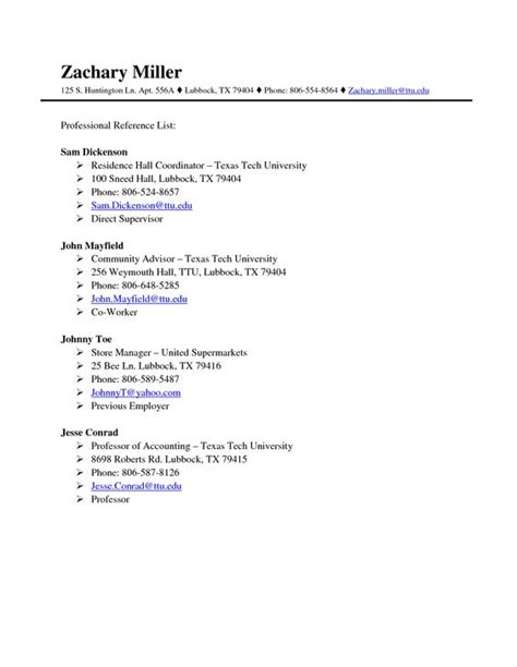 reference template reference sheet template