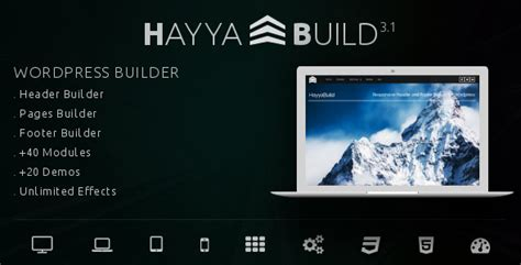 free wordpress themes page builder hayyabuild v3 1 wordpress header footer and page