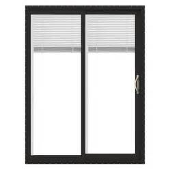 Sliding Patio Doors With Blinds Between Glass Reviews Shop Jeld Wen V 2500 59 5 In Blinds Between The Glass