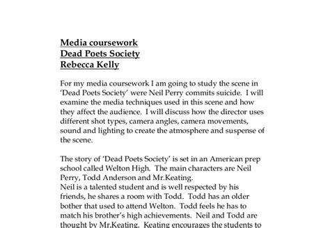 Dead Poets Society Essays by Dead Poets Society Todd Essay