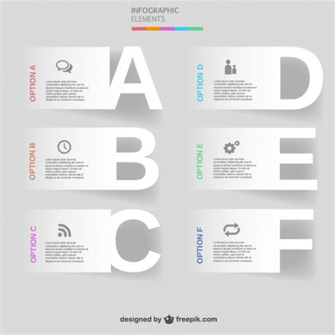 Letters Infographic Vector Free Download Letter Infographic Template