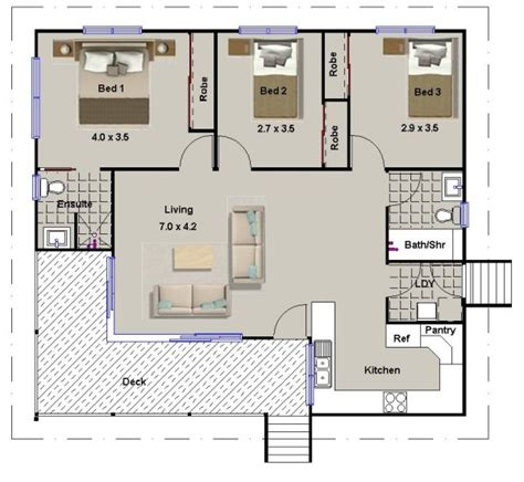 3 bedroom house with granny flat 3 bed room house plan 112 skippy on timber floor granny