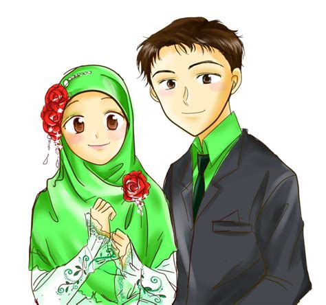 Baju Anime 15 15 best images about muslim on on canvas