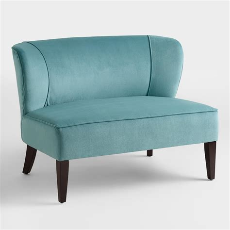 Caribbean Blue Quincy Loveseat World Market
