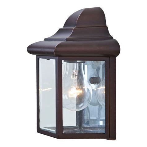 Outdoor Wall Mounted Light Fixtures Acclaim Lighting Pocket Lantern Collection 1 Light Architectural Bronze Outdoor Wall Mount