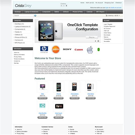 opencart free templates crista free opencart template set free opencart theme