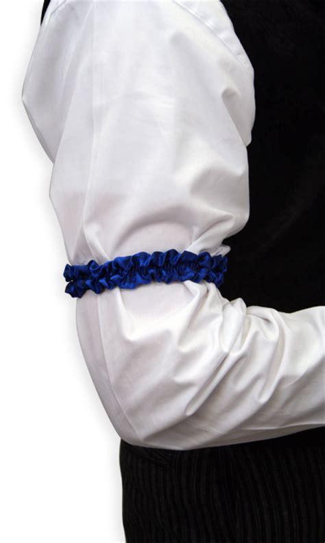 sleeve garter deluxe silk sleeve garters royal blue one pair