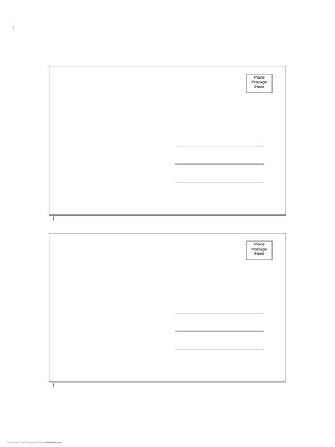 back of postcard template 2018 postcard back template fillable printable pdf