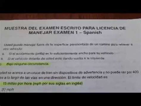 preguntas de examen para obtencin de licencia de conducir 2 de 3 muestra del examen escrito para licencia de manejar en