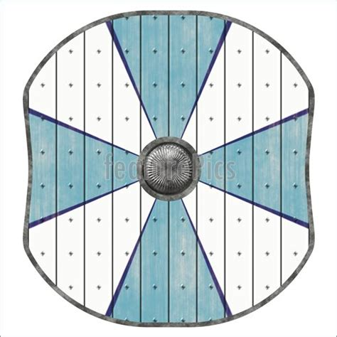 illustration of viking shield