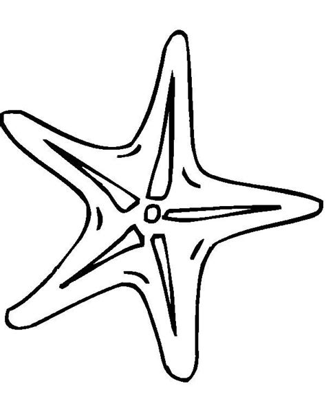cute starfish coloring pages outline of starfish clipart best