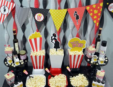 Popcorn Baby Shower Theme by Ready To Pop Popcorn Bar Baby Shower Quot Ready To Pop Baby