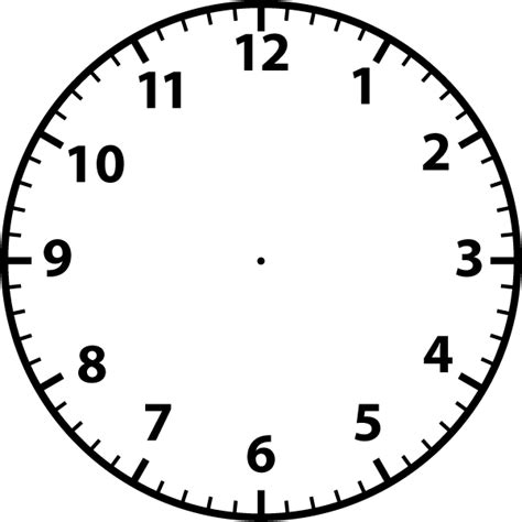 printable clock face without hands clock faces without hands free clipart