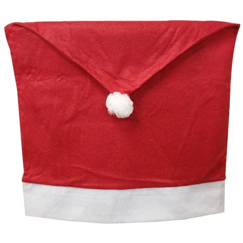 santa s hat decorative chair cover
