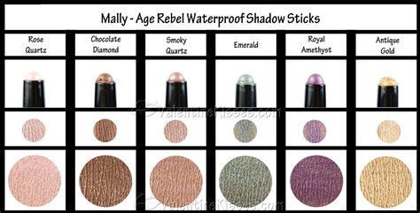Product Review Mally Products 4 by Kisses Mally Age Rebel Waterproof Shadow Sticks