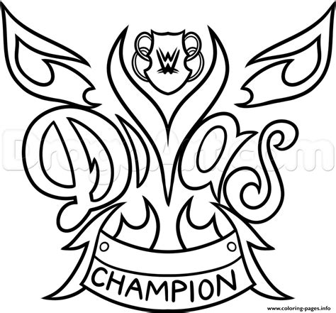coloring pages wwe belts wwe diva chionship belt nikki bella wrestling coloring