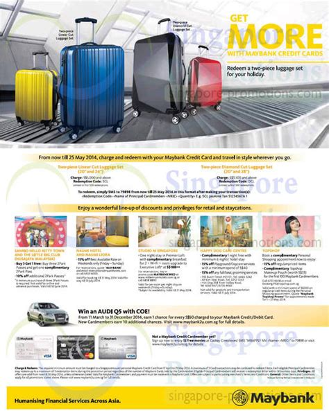 Credit Card Application Form Maybank Maybank Credit Cards Free Luggage Set Promo 17 Apr 25 May 2014