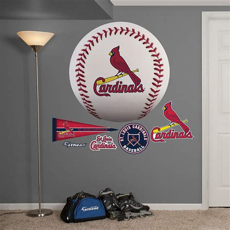 st louis cardinals home decor st louis cardinals baseball logo wall decal shop