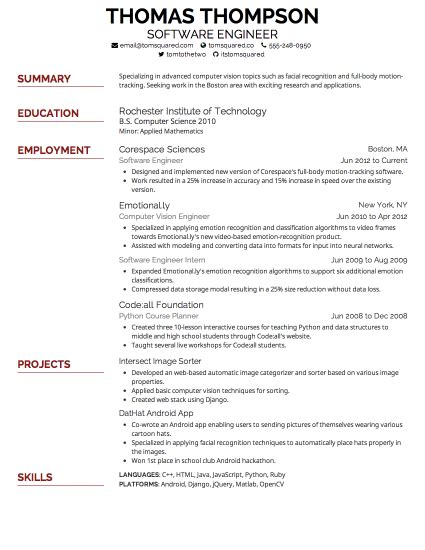 Best Resume Font by Resume Font Resume Ideas