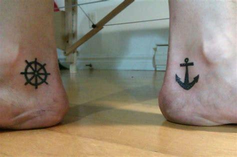 nautical couple tattoos 1000 ideas about wheel on ship wheel