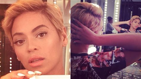 blonde that just got her hair cut omfg beyonc 233 just cut off all her hair