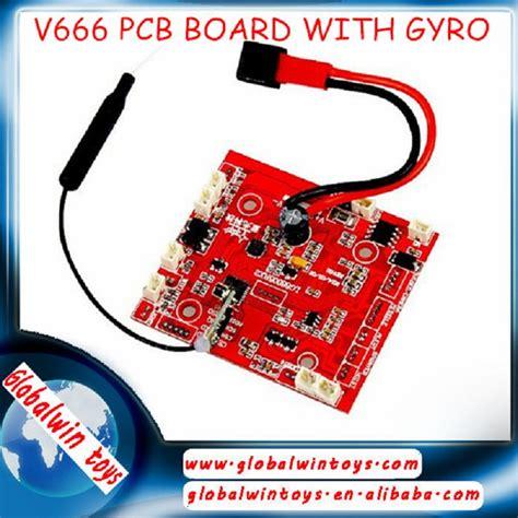 Drone Wl V666 wl v666 rc drone reciver board with gyro quadcopter spare parts v666 pcb board helicopter parts