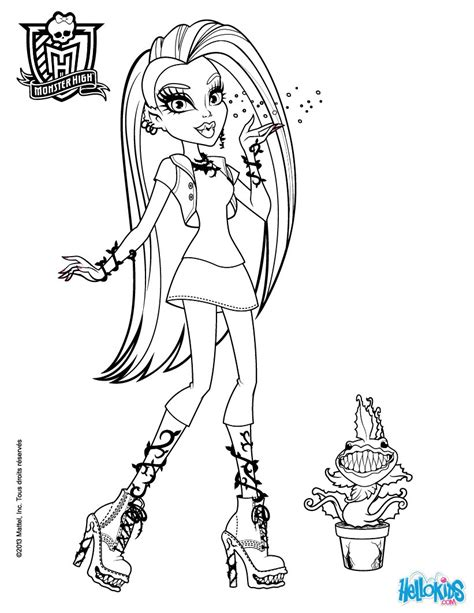 monster high movie coloring pages chewlian venus mc flytrap coloring pages hellokids com