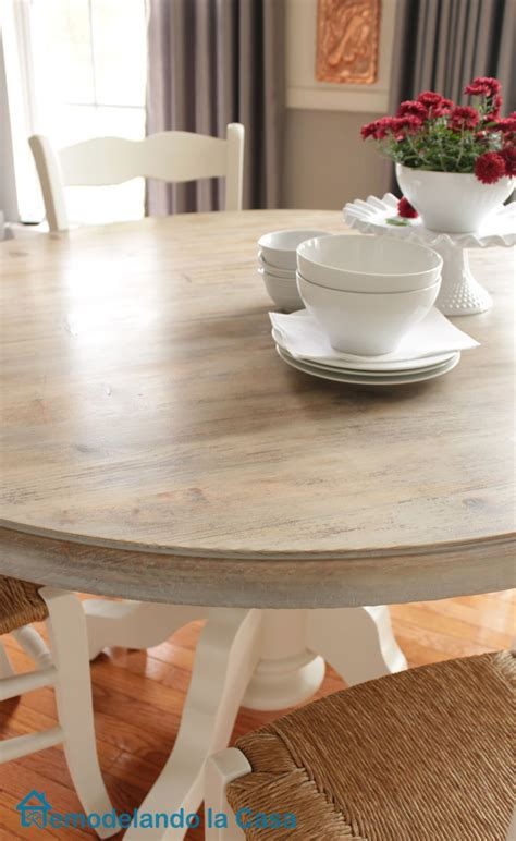 Kitchen Table Top by Kitchen Table And Chairs Makeover Remodelando La Casa
