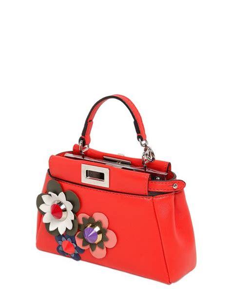 Fendi By The Way Flower Applique Crossbody 8017 fendi micro peekaboo flower appliqu 233 s bag in poppy