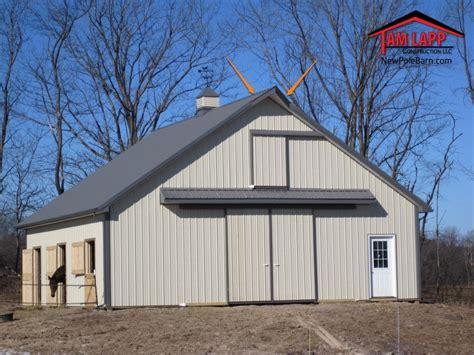 Pole Building Misc Design Options   Tam Lapp Construction, LLC