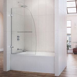 58 inch bathtub shower combo dreamline aqua uno 34 in x 58 in frameless pivot tub