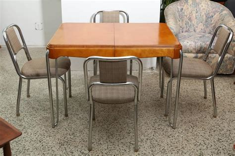 deco kitchen table with four chairs 1940s for