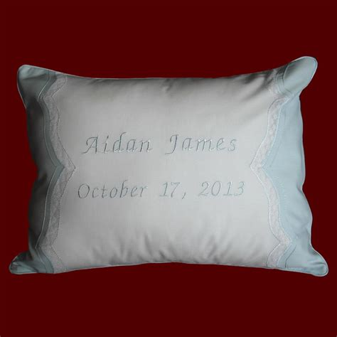 Babies Pillows by Keepsake Personalized Baby Pillow Christening Pillows Smocked Treasures
